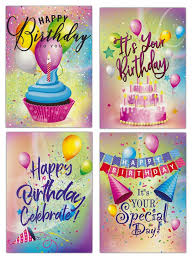 Happy Birthday to You Balloon & Cupcake (12 Boxed Cards)