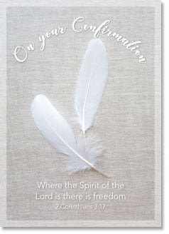 On Your Confirmation : White Feathers (order in 6)