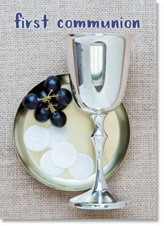 FIRST COMMUNION:  Chalice grapes wafer