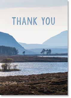 THANK YOU: Lake and mountains - KI Gifts Christian Supplies