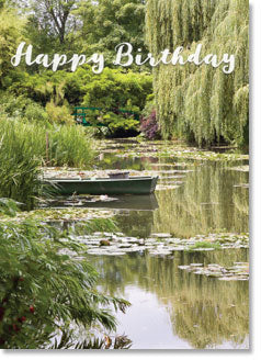 Happy Birthday - The Lake At Giverny (order in 6)