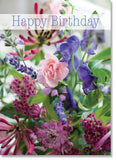 Happy Birthday - Pink and Blue Flowers (order in 6)