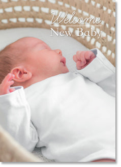 New Baby - Baby in Bassinette (order in 6)