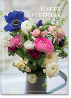 Happy Birthday - Ranuncula and Anemones (order in 6)