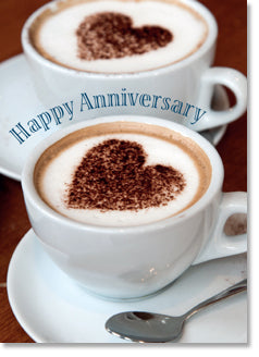 Happy Anniversary - Coffee Cups