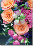 Thank You - Bright Rose Bouquet (order in 6)