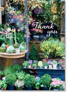 Thank You - Parisian Florist Shop (order in 6)