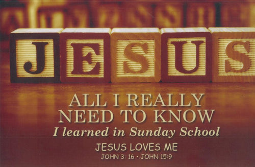 Small Poster : All I Really Need to Know - KI Gifts Christian Supplies