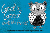 Small Poster : God is Good All the Time - KI Gifts Christian Supplies