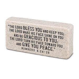 Cast Stone Plaque Scripture Stone - Blessed