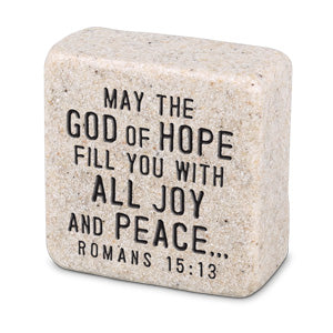 Cast Stone Plaque Scripture Stone - Peace