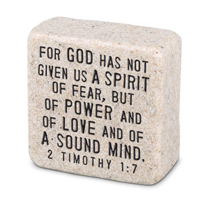 Cast Stone Plaque Scripture Stone - Fearless