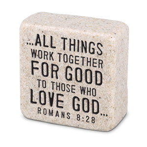 Cast Stone Plaque Scripture Stone - Believe