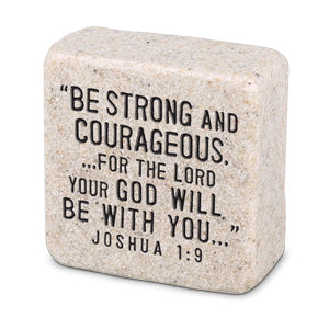Cast Stone Plaque Scripture Stone - Strength
