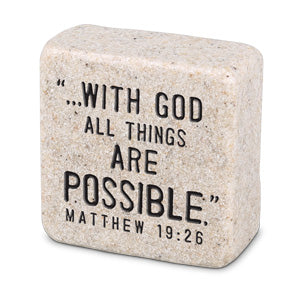 Cast Stone Plaque Scripture Stone - Faith