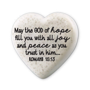 Scripture Stone Hearts of Hope: Joy And Peace