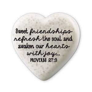 Scripture Stone Hearts of Hope: Friendships