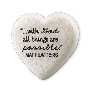 Scripture Stone Hearts of Hope: With God