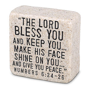 Cast Stone Plaque Scripture Stone - Blessings