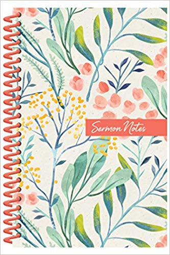Sermon Notes Journal - Floral - KI Gifts Christian Supplies