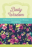 Daily Wisdom: 3-Minute Devotions for Women Journal - KI Gifts Christian Supplies
