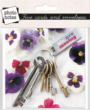 Photonotes: Keys and Pansies - New Home - KI Gifts Christian Supplies