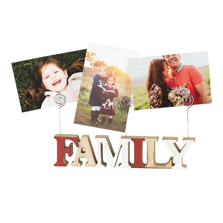 Photo Clip Wood Block - Family - KI Gifts Christian Supplies