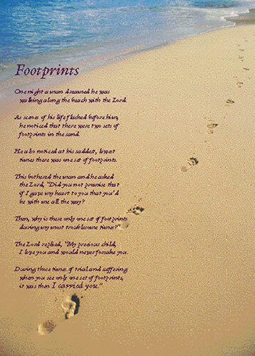 Large Poster - Footprints