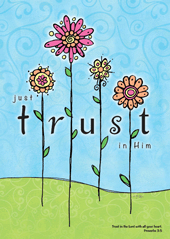Large Poster : Just Trust in Him - KI Gifts Christian Supplies