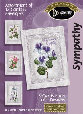 Sympathy Assortment- Floral (12 Boxed Cards)