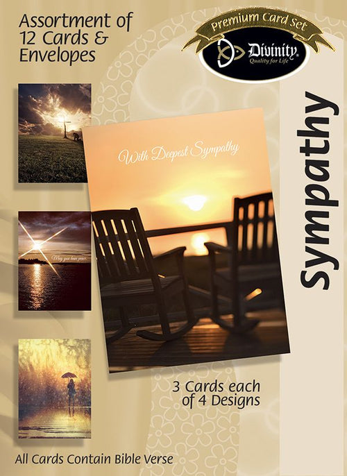 Sympathy Card Assortment - Sunset - KI Gifts Christian Supplies