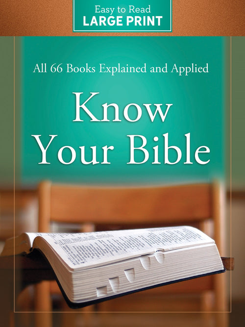 Know Your Bible (Large Print)