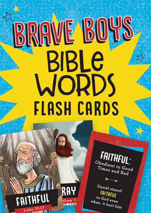Brave Boys Bible Words Flash Cards