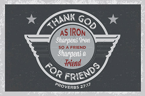 Small Poster : Thank God For Friends - KI Gifts Christian Supplies