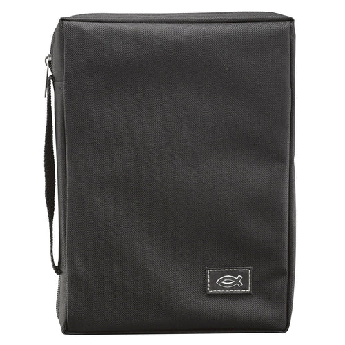 Bible Cover - Super Value Canvas Black (different sizes)