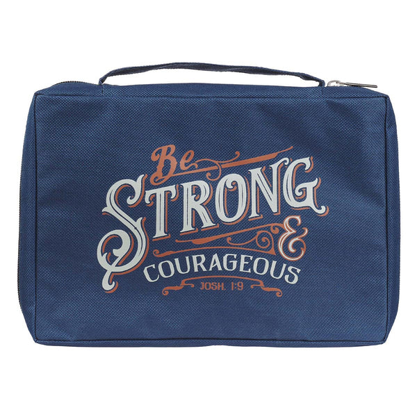 Be Strong & Courageous Navy Value Bible Case - Joshua 1:9