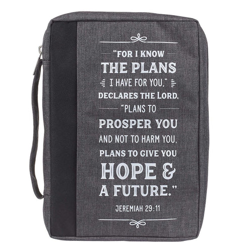 I Know the Plans Charcoal Value Bible Case - Jeremiah 29:11