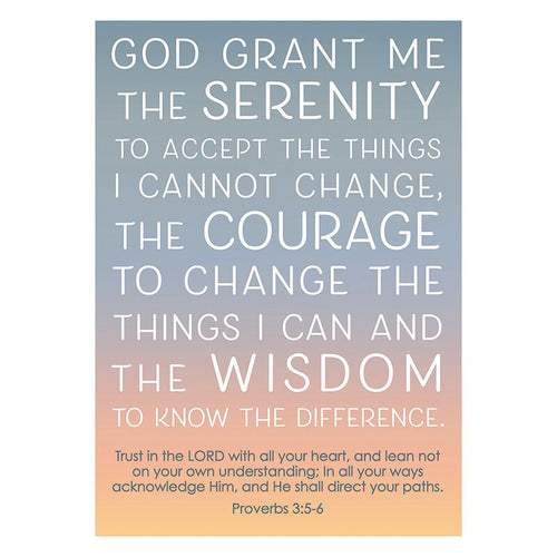 Large Poster - Serenity Prayer