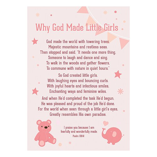 Large Poster - Why God Made Little Girls