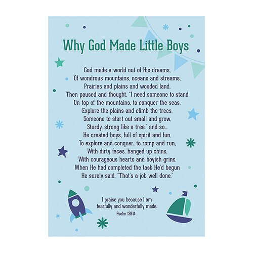 Large Poster - Why God Made Little Boys