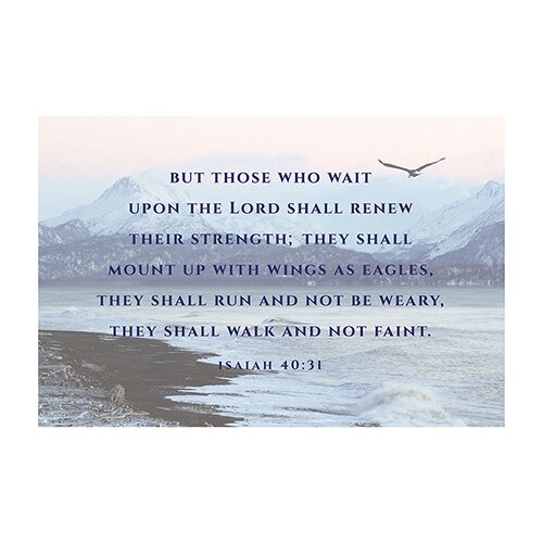 Small Poster - But Those Who Wait (Isaiah 40:31)