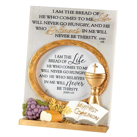 "7"" Resin Tabletop Photo Frame : My First Communion - KI Gifts Christian Supplies"