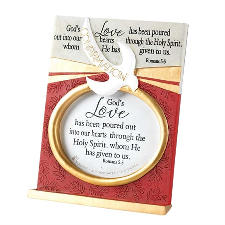 "7"" Resin Tabletop Photo Frame - Confirmation - KI Gifts Christian Supplies"