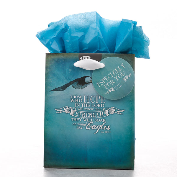 Small Gift Bag: On Wings like Eagles  136 x 70 x 170mm