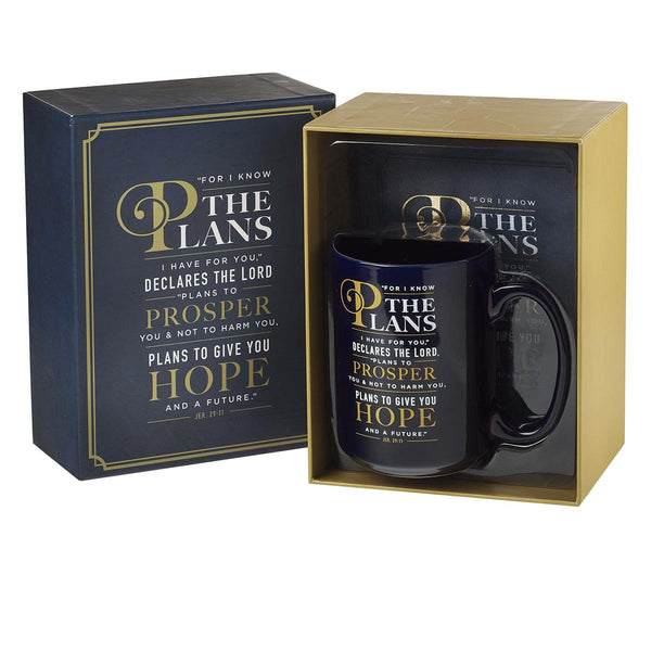 Journal and Mug Boxed Graduation Gift Set - Jeremiah 29:11