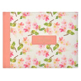 Faux Leather Guest Book - Floral Medium Pink