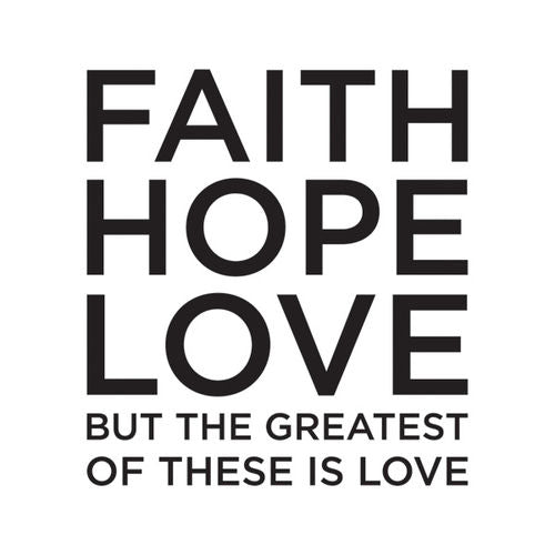 Faith Hope Love: Beverage Napkins (20/Pack)