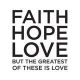 Faith Hope Love: Beverage Napkins (20/Pack) - KI Gifts Christian Supplies