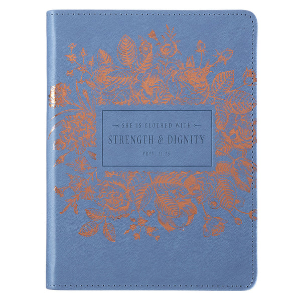 Strength & Dignity Classic LuxLeather Journal - Proverbs 31:25