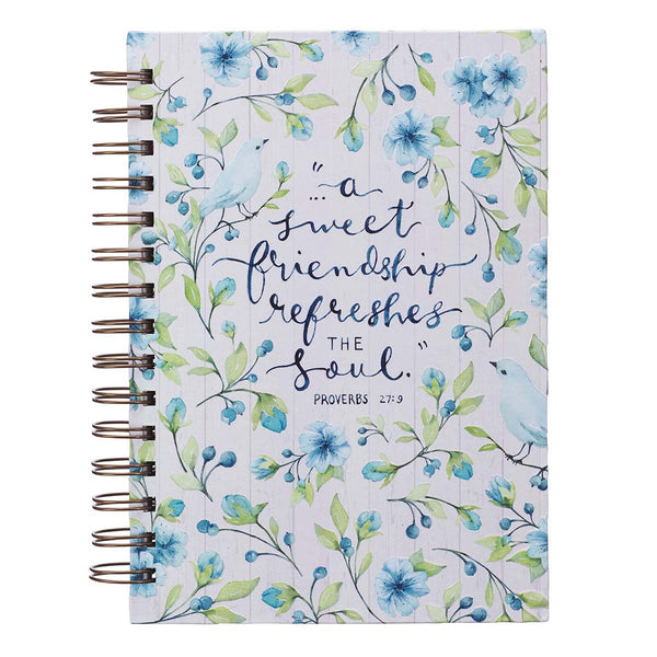 A Sweet Friendship Large Wirebound Journal - Proverbs 27:9